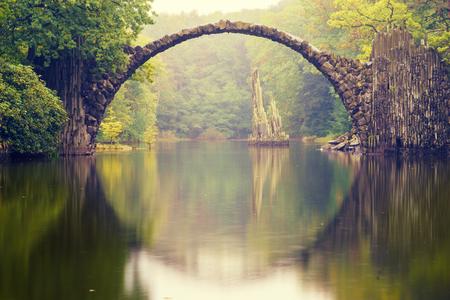 keystone: Rakotz bridge in Kromlau Stock Photo