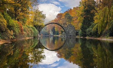 Devils Bridge,Kromlau,Germany Stock Photo