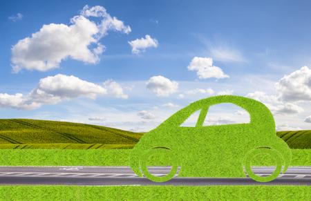 green ecological concept car Stock Photo