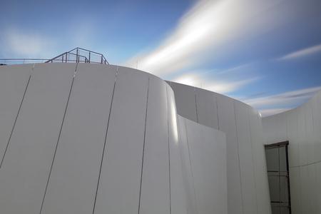 Stralsund, the island of Rügen, Germany-July 2015: Futuristic solid oceanarium in Stralsund