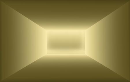 virtual gold 3d scene