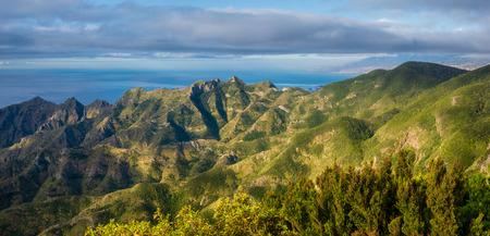 Anaga Mountains In Tenerife 스톡 콘텐츠