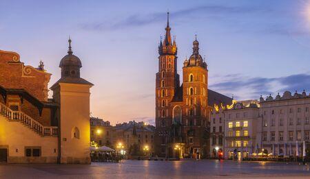 Krakow market in the morning