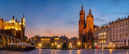 Krakow Market Square, Poland - panorama Standard-Bild - 128139893