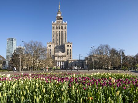 Palace of Culture and Science in Warsaw, Poland. Standard-Bild - 141810681