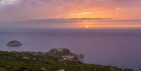 Rhodes island landscape at sunrise