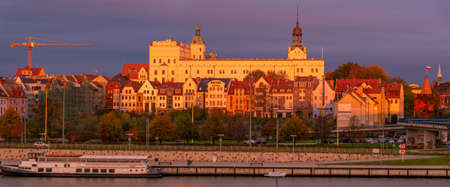 Panorama of the historic part of Szczecin in Poland