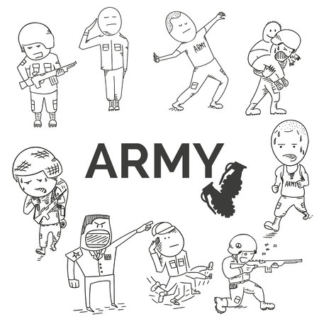 perspiration: Army set. EPS10 vector illustration