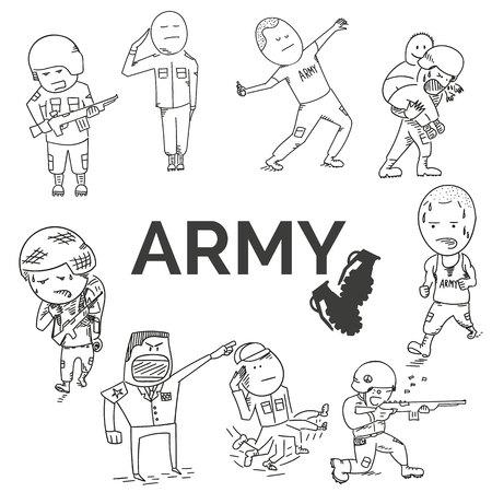 Army set. EPS10 vector illustration