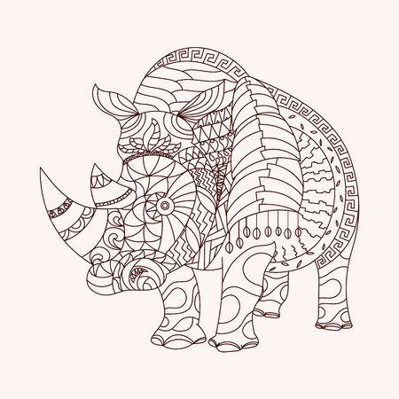 eps10 vector: Patterned rhino style. EPS10 vector illustration