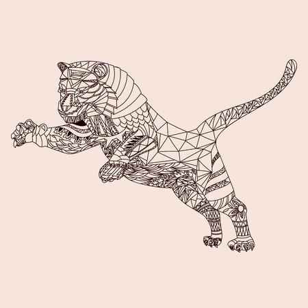 Patterned tiger