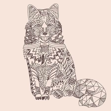 fox: Patterned fox