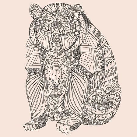 oso negro: Oso con dibujos