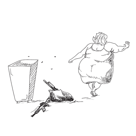 gun control: Gun control in USA. Sketchy illustration Illustration