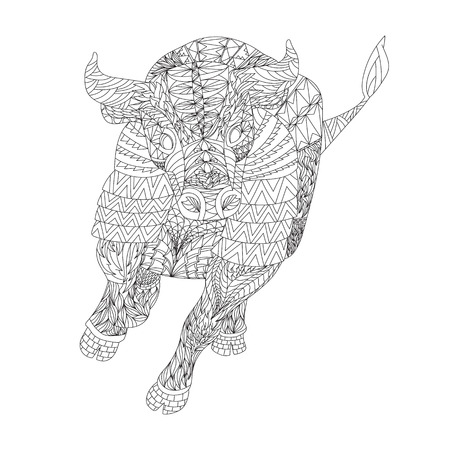 whatever: Patterned bull style. Good for T-shirt, bag or whatever print. illustration