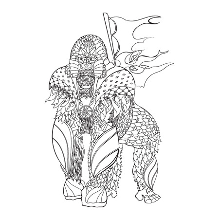 patterned gorilla standing