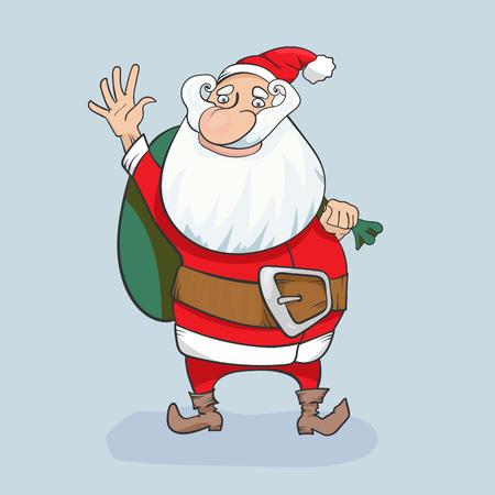 Cute Santa Clause vector hand drawn character illustration