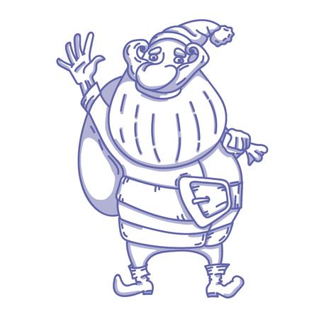 Cute Santa Claus vector hand drawn character illustration Ilustrace