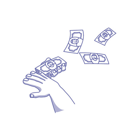 Money. Make it rain Illustration
