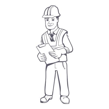 Construction manager illustration Ilustrace