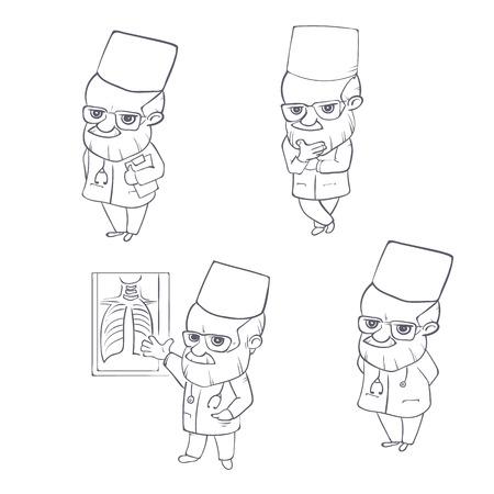 Doctor character standing