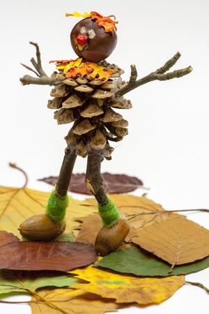autumn man Standard-Bild