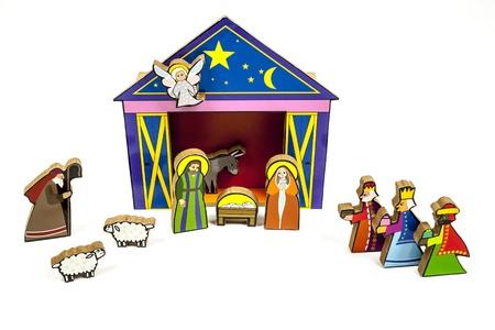 funny christmas stable