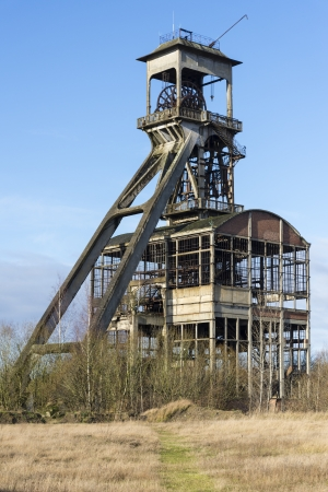 old and obsolete coal mine shaft