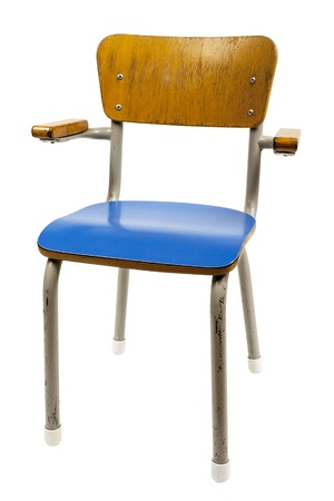 Old School Chair Isolated On White Stock Photo   18577795