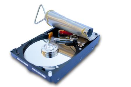 sardine can: hard disk in the shape of sardine can