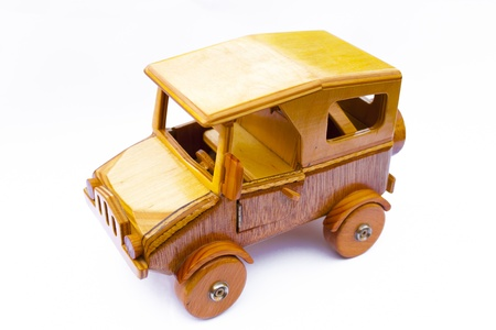 old wooden toy car photo
