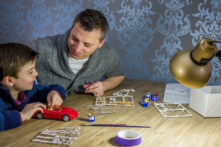 the model car: father and son building a model car