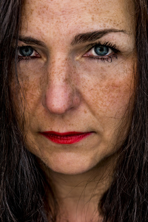 beautiful middle aged woman: beautiful middle aged woman portrait