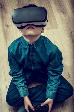 boy playing vr games