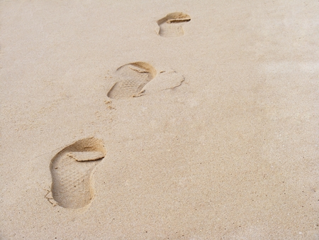 footstep: footstep in the sand