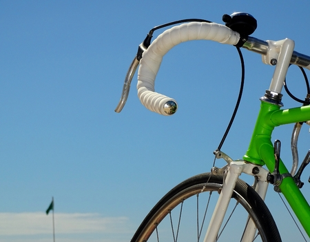 handlebar: bicycle handlebar