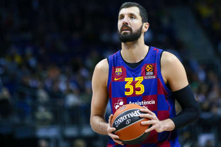 Berlin, Germany, March 04, 2020: Basketball player Nikola Mirotic of FC Barcelona during the EuroLeague basketball match between Alba Berlin and FC Barcelona at Mercedes Benz Arena in Berlin, Germany.