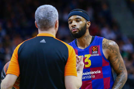 Berlin, Germany, March 04, 2020: Basketball player Malcolm Delaney of FC Barcelona Basketball during the EuroLeague match between Alba Berlin and FC Barcelona at Mercedes Benz Arena in Berlin