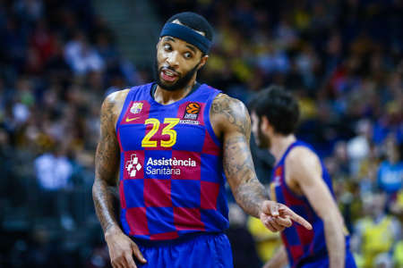Berlin, Germany, March 04, 2020: Basketball player Malcolm Delaney of FC Barcelona during the EuroLeague match between Alba Berlin and FC Barcelona at Mercedes Benz Arena in Berlin