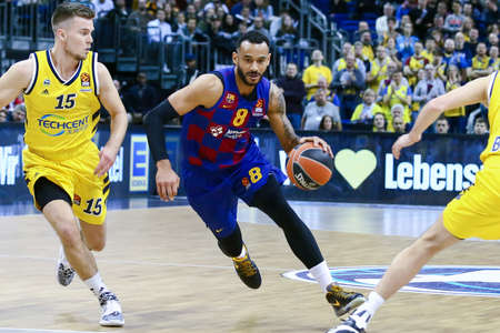 Berlin, Germany, March 04, 2020: Adam Hanga of FC Barcelona Basketball in action during the EuroLeague basketball match between Alba Berlin and FC Barcelona at Mercedes Benz Arena in Berlin, Germany.