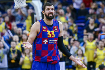 Berlin, Germany, March 04, 2020: Nikola Mirotic of FC Barcelona in action during the EuroLeague basketball match between Alba Berlin and FC Barcelona at Mercedes Benz Arena