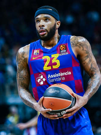 Berlin, Germany, March 04, 2020: Malcolm Delaney of FC Barcelona Basketball during the EuroLeague match between Alba Berlin and FC Barcelona at Mercedes Benz Arena in Berlin, Germany.