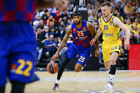 Berlin, Germany, March 04, 2020: Malcolm Delaney of FC Barcelona in action during the EuroLeague match between Alba Berlin and FC Barcelona at Mercedes Benz Arena in Berlin
