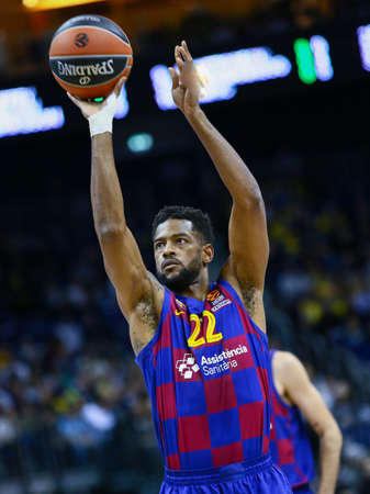 Berlin, Germany, March 04, 2020: Basketball player Cory Higgins of FC Barcelona in action during the EuroLeague match between Alba Berlin and FC Barcelona at Mercedes Benz Arena in Berlin, Germany.