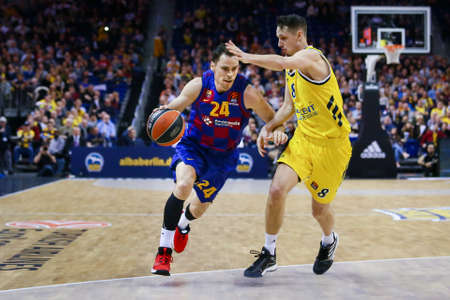 Berlin, Germany, March 04, 2020: Kyle Kuric of FC Barcelona Basketball in action during the EuroLeague basketball match between Alba Berlin and FC Barcelona at Mercedes Benz Arena in Berlin, Germany.