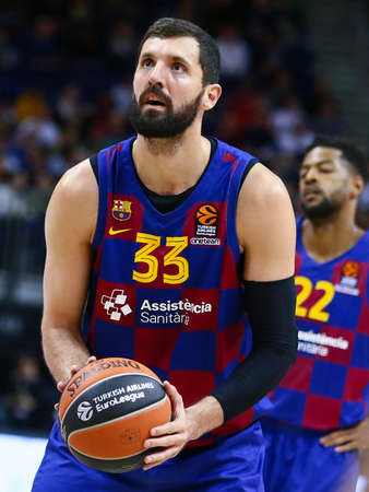 Berlin, Germany, March 04, 2020: Nikola Mirotic of FC Barcelona Basketball during the EuroLeague basketball match between Alba Berlin and FC Barcelona at Mercedes Benz Arena