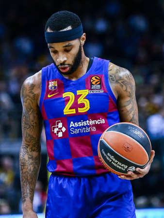 Berlin, Germany, March 04, 2020: Malcolm Delaney of FC Barcelona during the EuroLeague basketball match between Alba Berlin and FC Barcelona at Mercedes Benz Arena in Berlin, Germany.