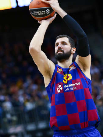 Berlin, Germany, March 04, 2020: Nikola Mirotic of FC Barcelona Basketball in action during the EuroLeague basketball match between Alba Berlin and FC Barcelona at Mercedes Benz Arena in Berlin