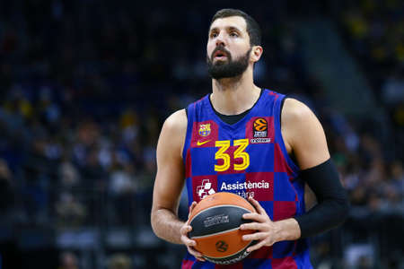 Berlin, Germany, March 04, 2020: Basketball player Nikola Mirotic of FC Barcelona during the EuroLeague basketball match between Alba Berlin and FC Barcelona at Mercedes Benz Arena in Berlin