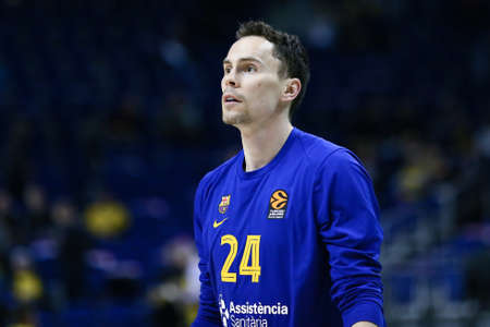 Berlin, Germany, March 04, 2020: Kyle Kuric of FC Barcelona Basketball during the EuroLeague basketball match between Alba Berlin and FC Barcelona at Mercedes Benz Arena in Berlin, Germany.